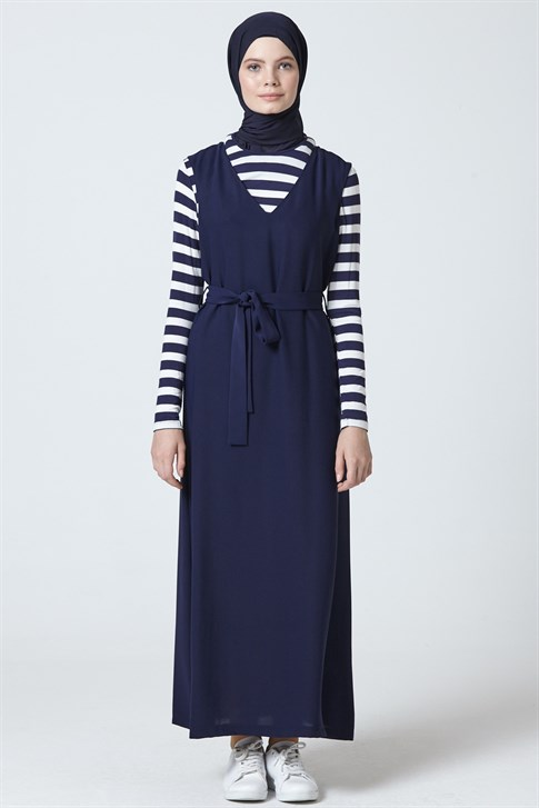 Armine Dress Navy Blue 9Y9710