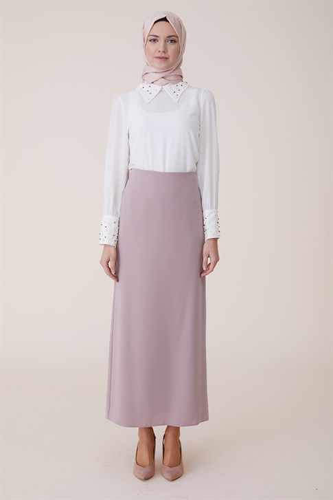 Armine Pencil Skirt Light Pink K11K5501