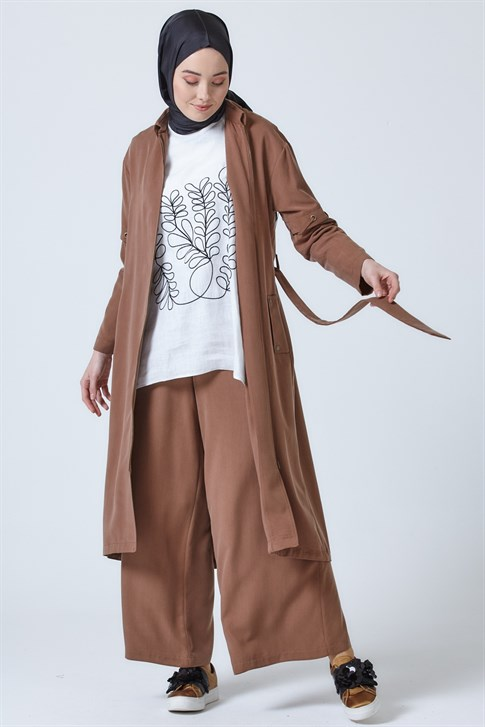 Armine Seasonal Long Jacket CAMEL 9Y7730