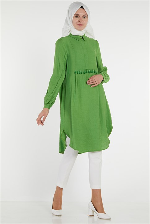 Armine Tassel Detailed Tunic Green 9Y4824