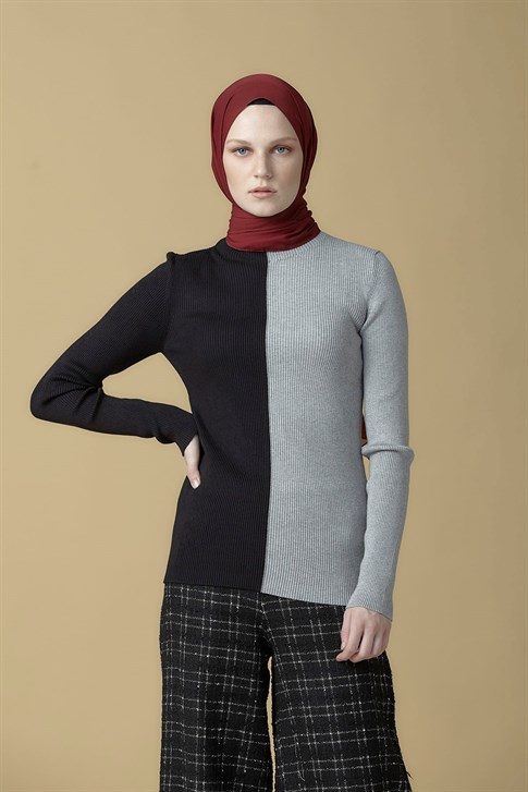 Armine Knitwear Sweater Black-Gray 9K2010