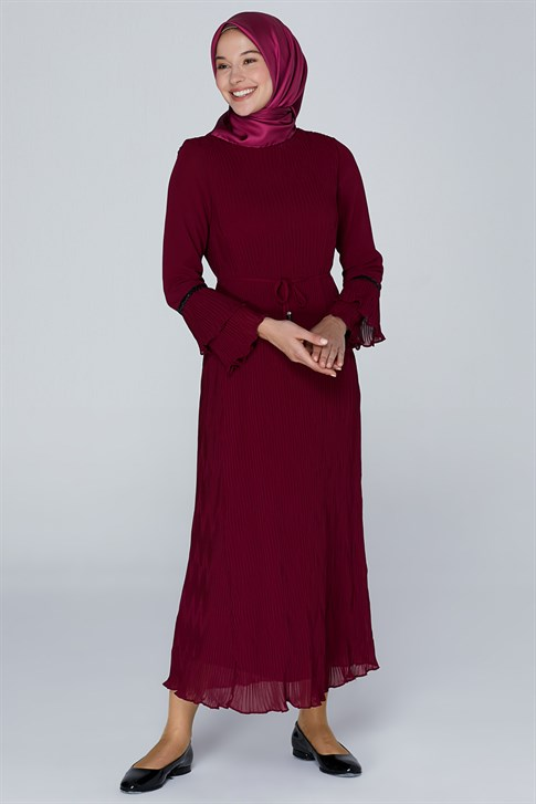 Armine Lacing Laced Dress Cherry 9K9841