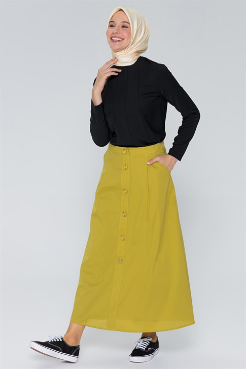 Armine Pocket Skirt Pistachio Green 9Y1731