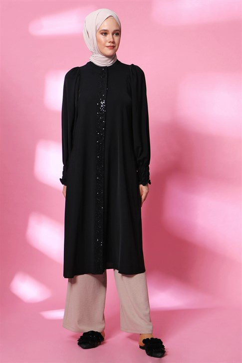Armine Sequin Detailed Tunic Black 20Y4212