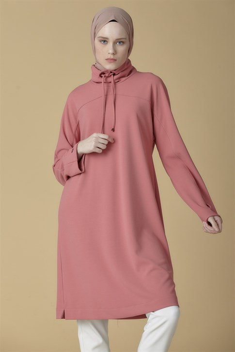 Armine Lacing Detailed Tunic Rose Dry 9K4902