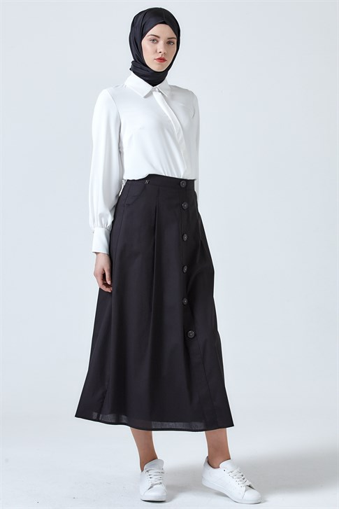 Armine Pocket Skirt Black 9Y1731