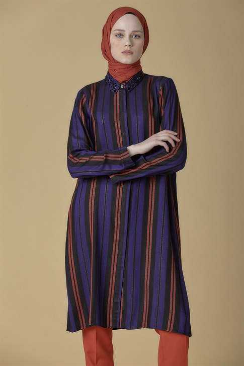Armine Striped Tunic Purple 9K4801