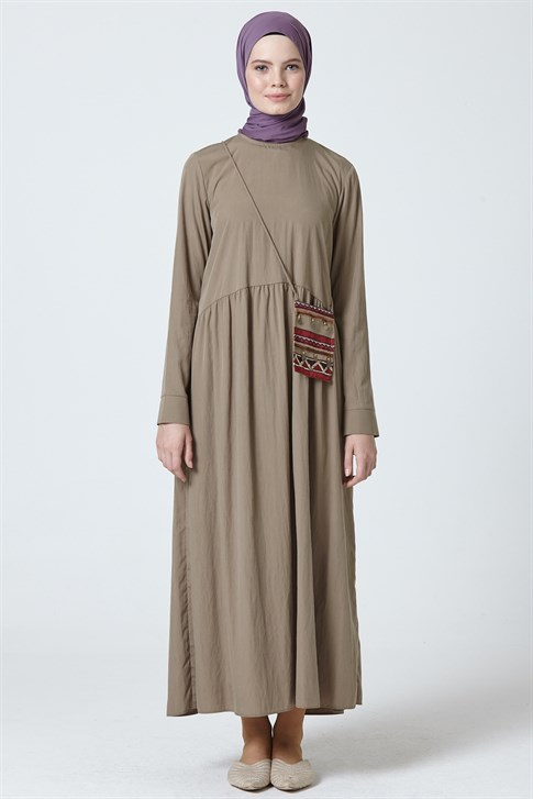 Armine Dress Khaki 9Y9750