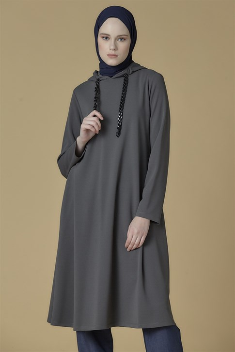 Armine Hooded sportyts Tunic Anthracite 9K4877