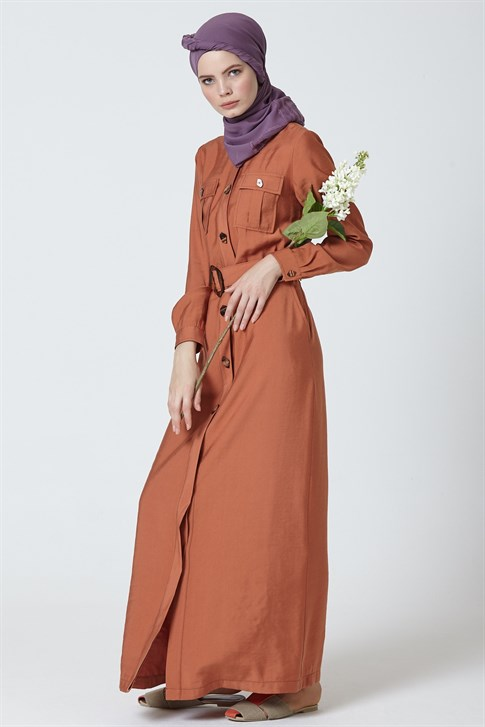 Armine Belt Dress Cinnamon 9Y9775