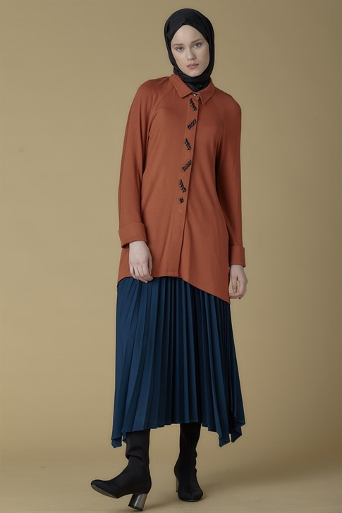 Armine Plisoley Skirt Petrol 9K1845