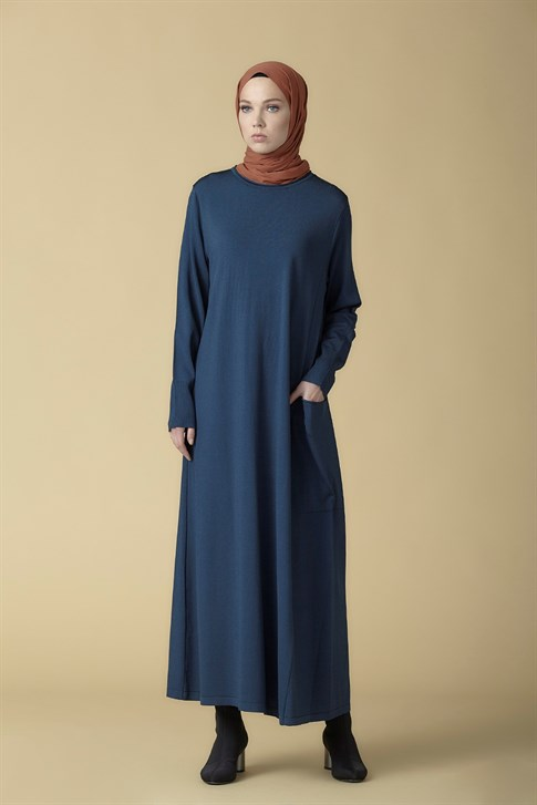 Armine Knitwear Dress Petrol 9K2005