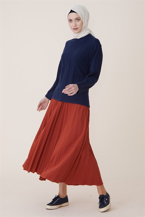 Armine Knitwear Sweater Navy Blue 9K9001