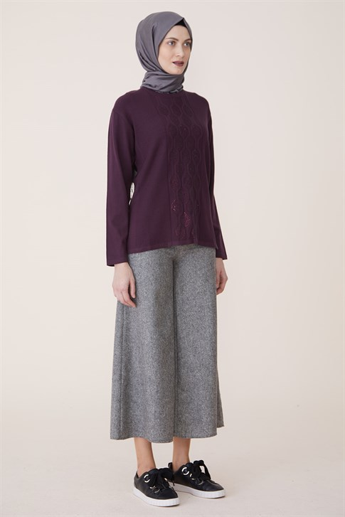 Armine Knitwear Sweater Plum 9K9000