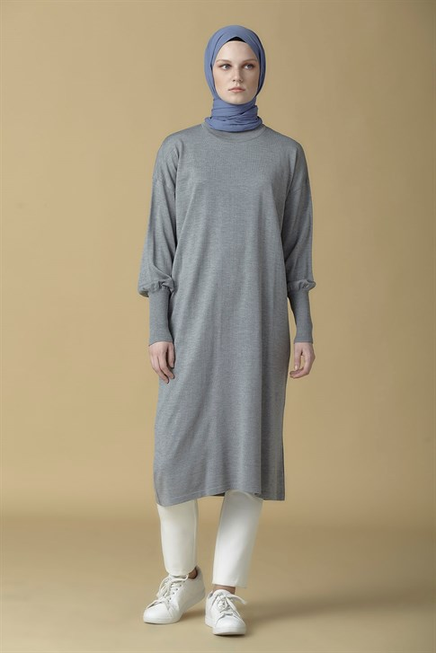 Armine Knitwear Tunic Light Gray 9K2007