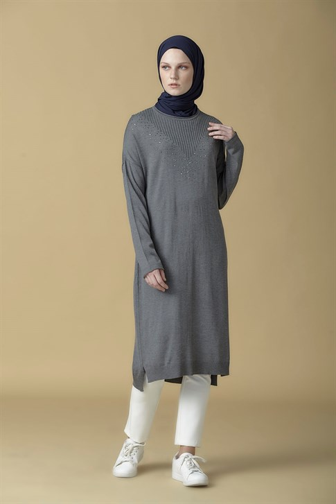 Armine Knitwear Tunic Anthracite 9K2017
