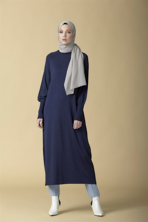 Armine Knitwear Tunic Navy Blue 9K2006