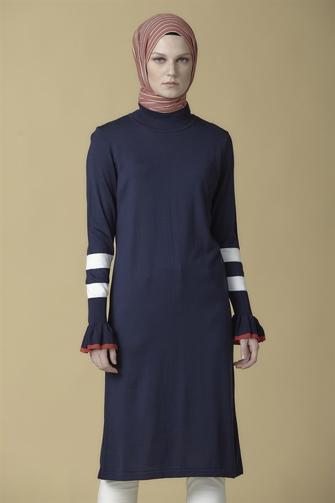 Armine Knitwear Tunic Navy Blue 9K2014