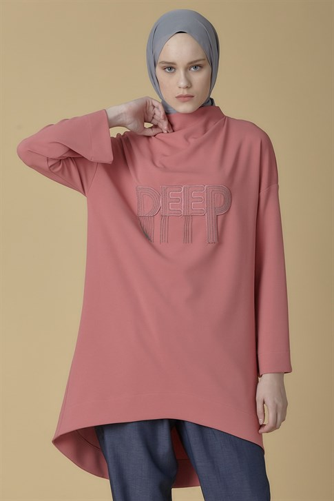 Armine Chain Detailed Tunic Rose Dry 9K4901