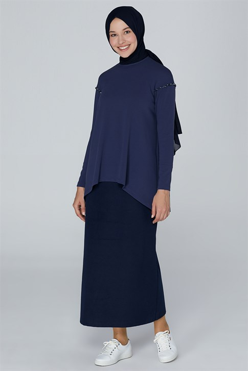 Armine Cachet Skirt Navy Blue 9K1802