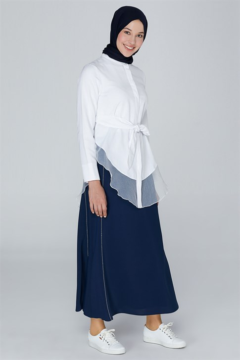Armine A Cut Skirt Navy Blue 9K1803
