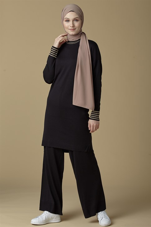 Armine Knitwear Double Suit Black 9K2029