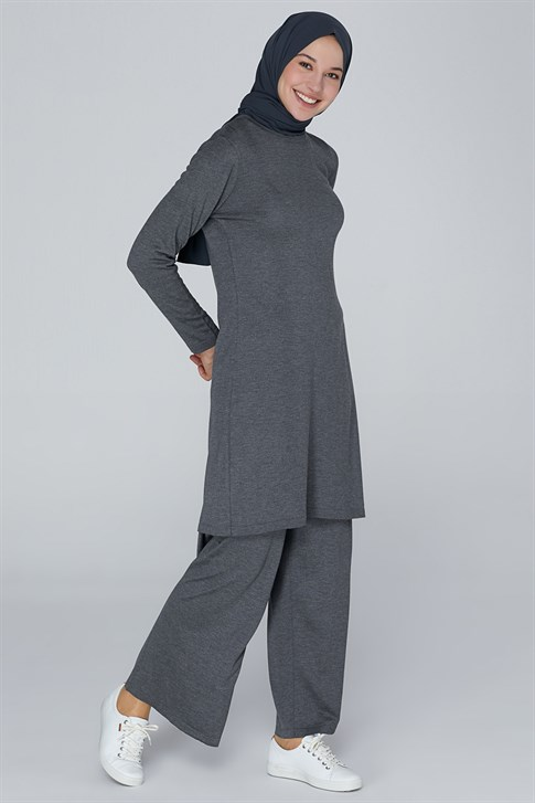 Armine Knitwear Double Suit Anthracite 9K2031