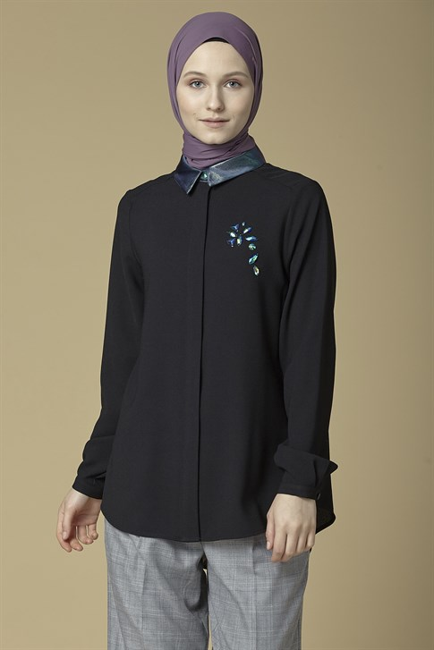 Armine Shirt Black 9K3744
