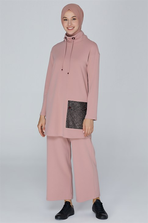 Armine Lacing Laced Double Suit Light Pink 9K6871