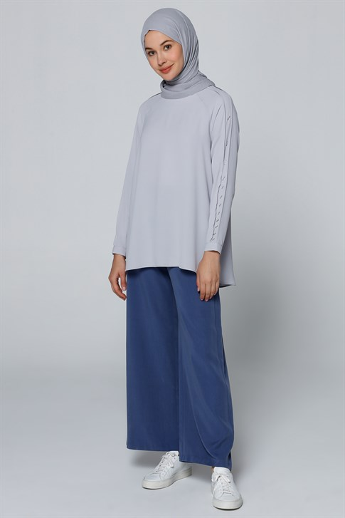 Armine Blouse Gray Blue 9Y3654