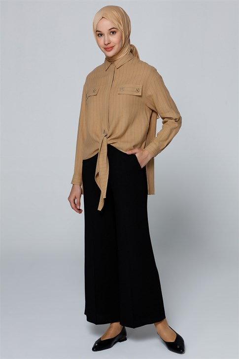 Armine Wide Leg Pants Black 20Y2907