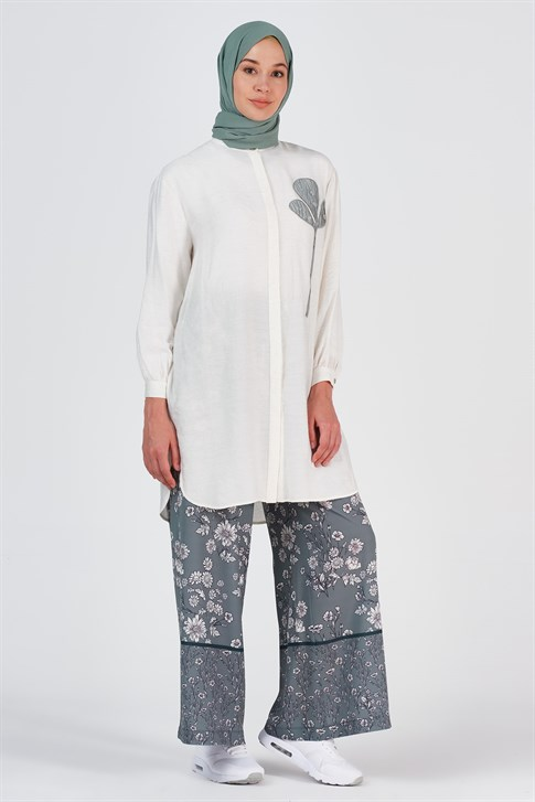Armine Flower Patterned Trousers Rose 20Y2914