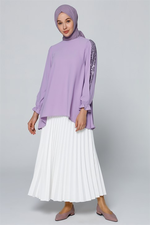 Armine Sequin Detailed Blouse Lilac 20YA3821