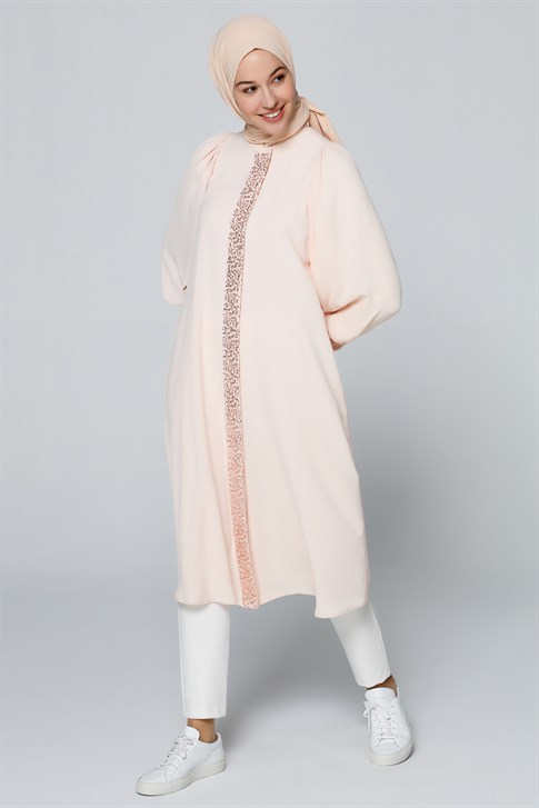 Armine Sequin Detailed Tunic Nude 20Y4212