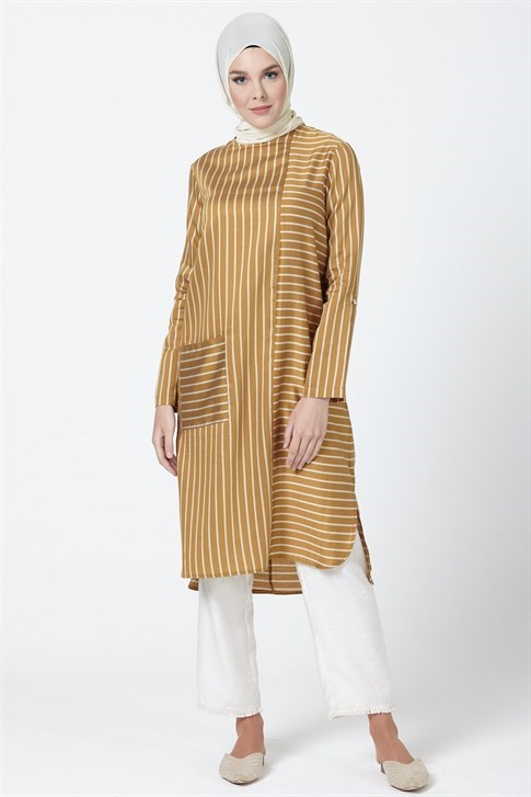 Armine Striped Tunic Mustard 20Y4218