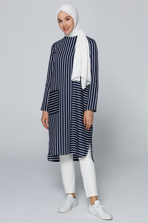 Armine Striped Tunic Navy Blue 20Y4218