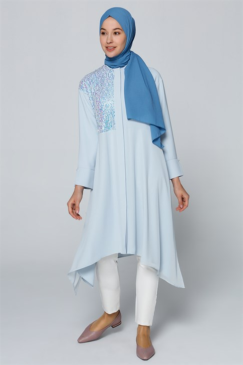 Armine Sequin Detailed Tunic Blue 20Y4236