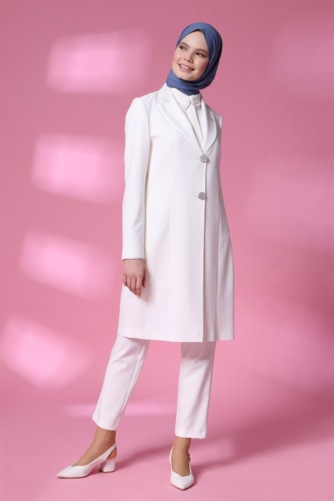 Armine Jacketed Suit 20Y6108 White