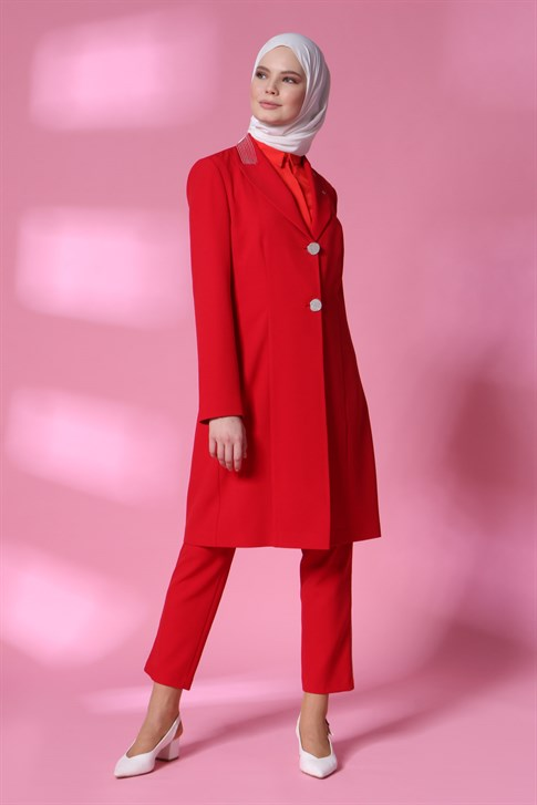 Armine Jacketed Suit 20Y6108 Red