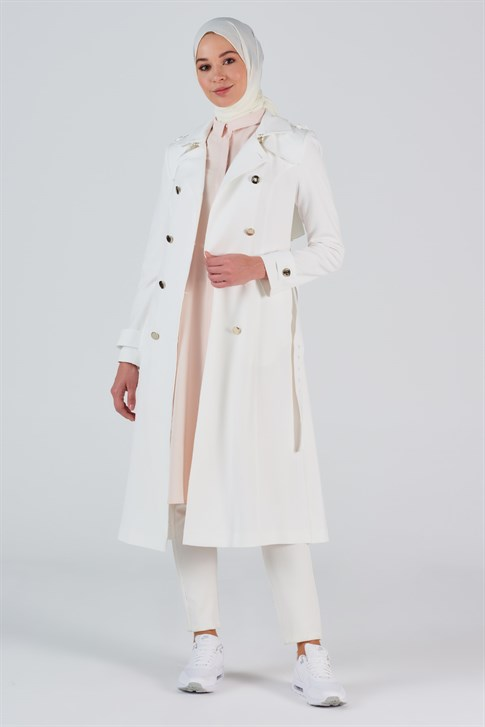 Armine Trench Coat Ecru 20Y7108