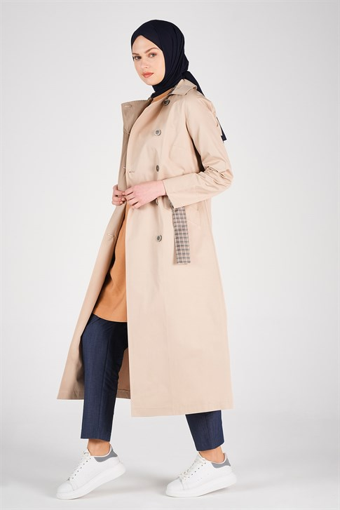 Armine Belt Detailed Trench Coat Embellished 20Y8201