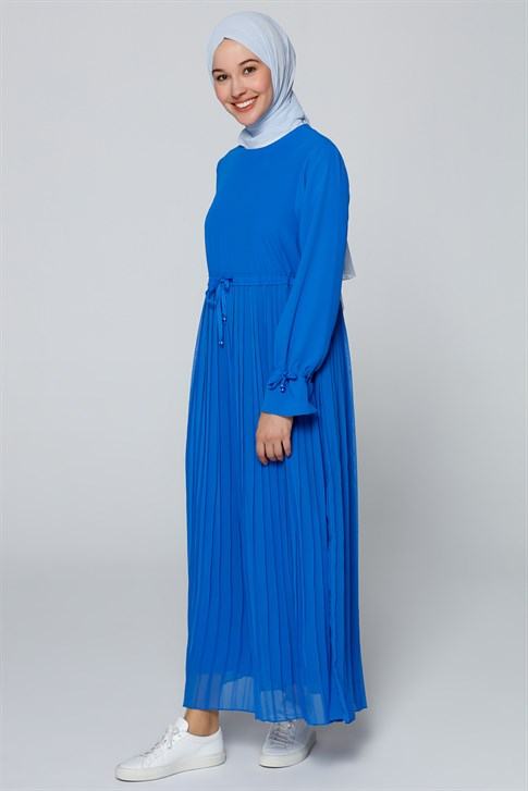 Armine Pleated Detailed Dress Blue 20Y9102