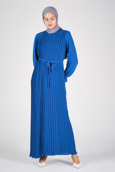 Armine Pleated Dress Blue 20Y9109