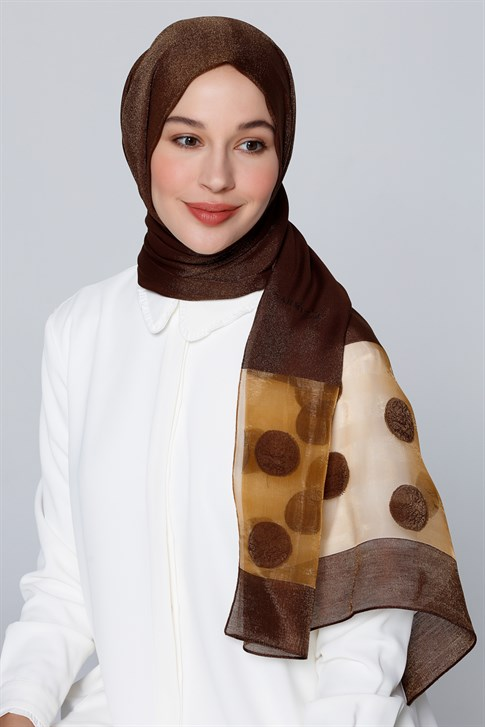 Armine Trend İnci Shawl Gold Brown