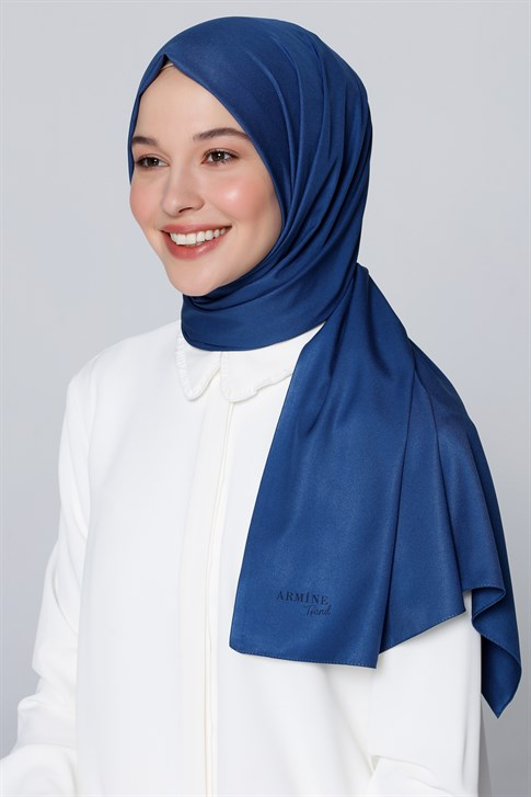 Armine Trend Takinli Shawl Denim Blue